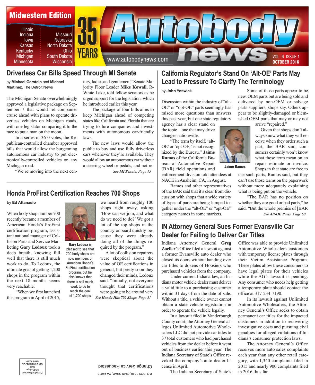 Midwestern October 2016 Issue By Autobody News Issuu Custom Paint Job 2002 Daged Akota