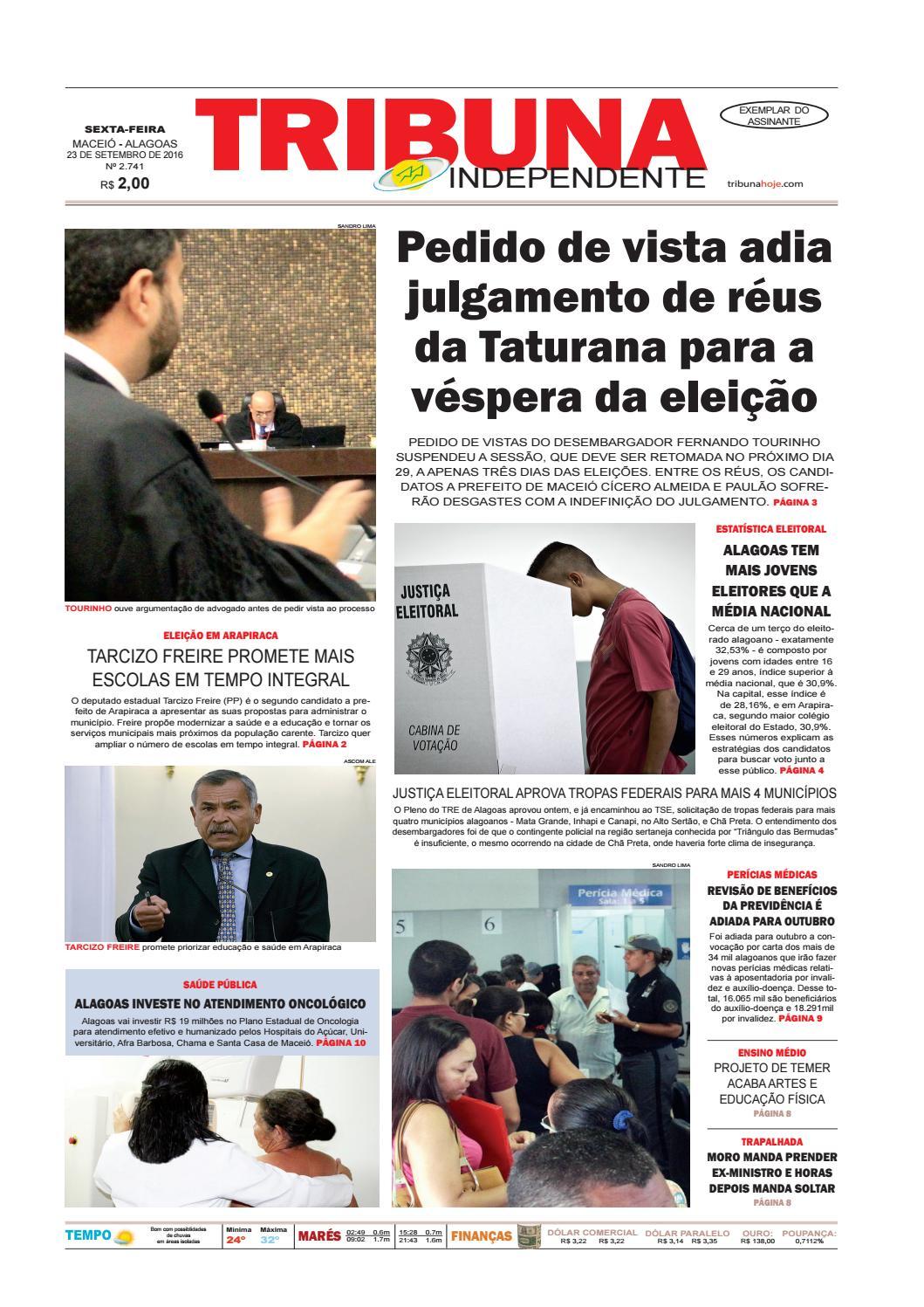 6f745d56d60 Edição número 2741 - 23 de setembro de 2016 by Tribuna Hoje - issuu