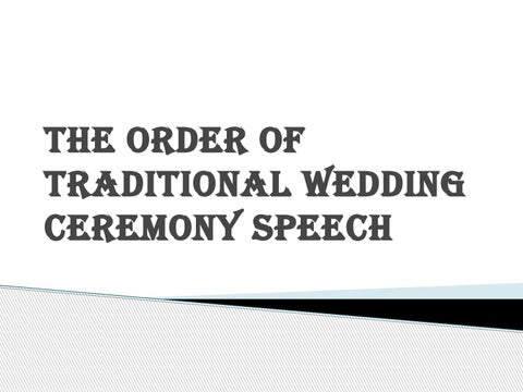 Steps Of Traditional Wedding Ceremony Speech By Emceesharlyn Issuu