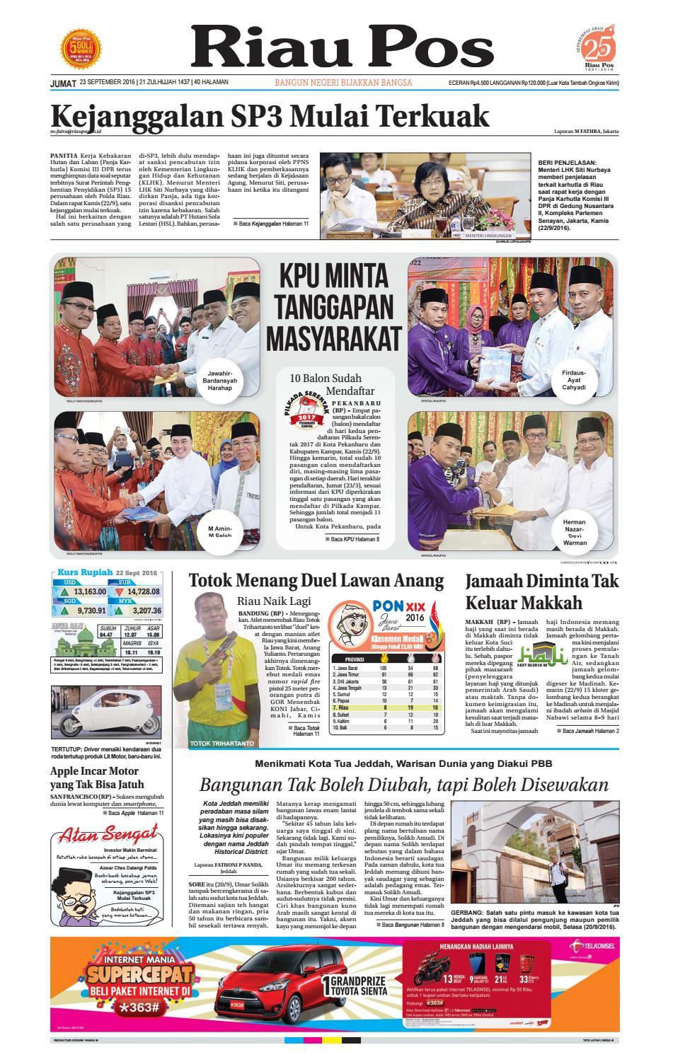 2016 09 23 by Riau Pos - issuu
