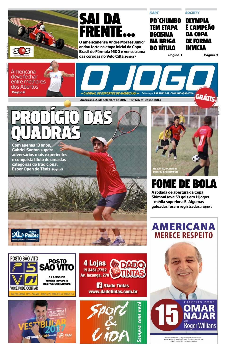 O JOGO by Zaramelo Jr - issuu 9d2ae6ce484d3