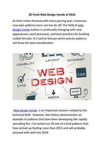 20 Fresh Web Design Trends Of 2016 By Bhavna Malhi Issuu