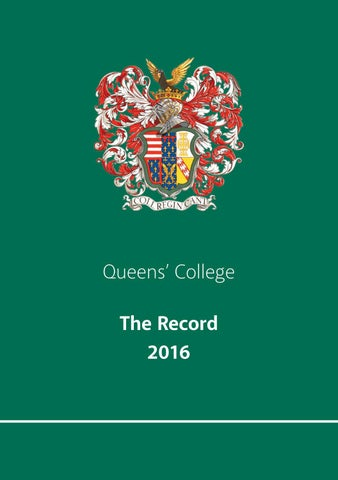 Queens  College - The Record 2016 by Ciconi Ltd - issuu 24ff93ad6c6