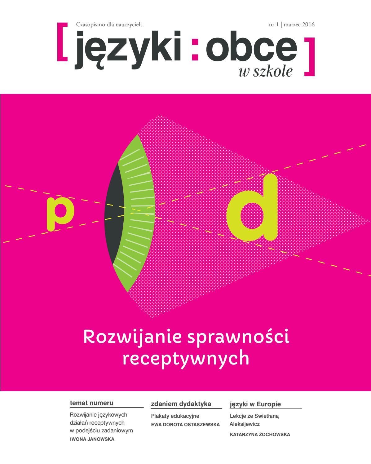 2afc74409fa34 Języki Obce w Szkole nr 1 2016 by Fundacja Rozwoju Systemu Edukacji - issuu