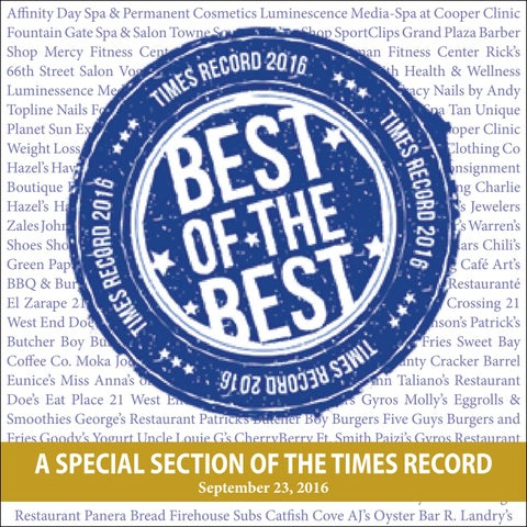 Best of the Best 2016 by Times Record - issuu