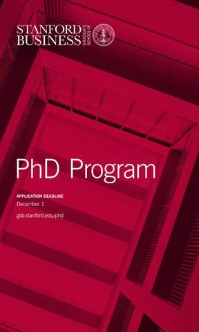 stanford gsb phd program brochure by stanford msx program issuu