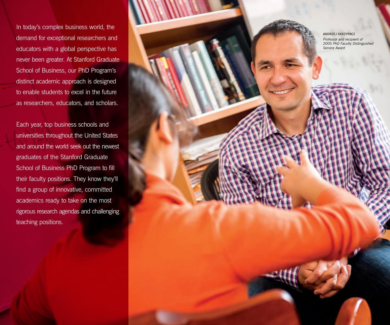 Stanford GSB PhD Program Brochure by Stanford MSx Program - issuu