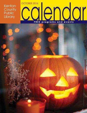 Kenton County Public Library October 2016 Calendar By
