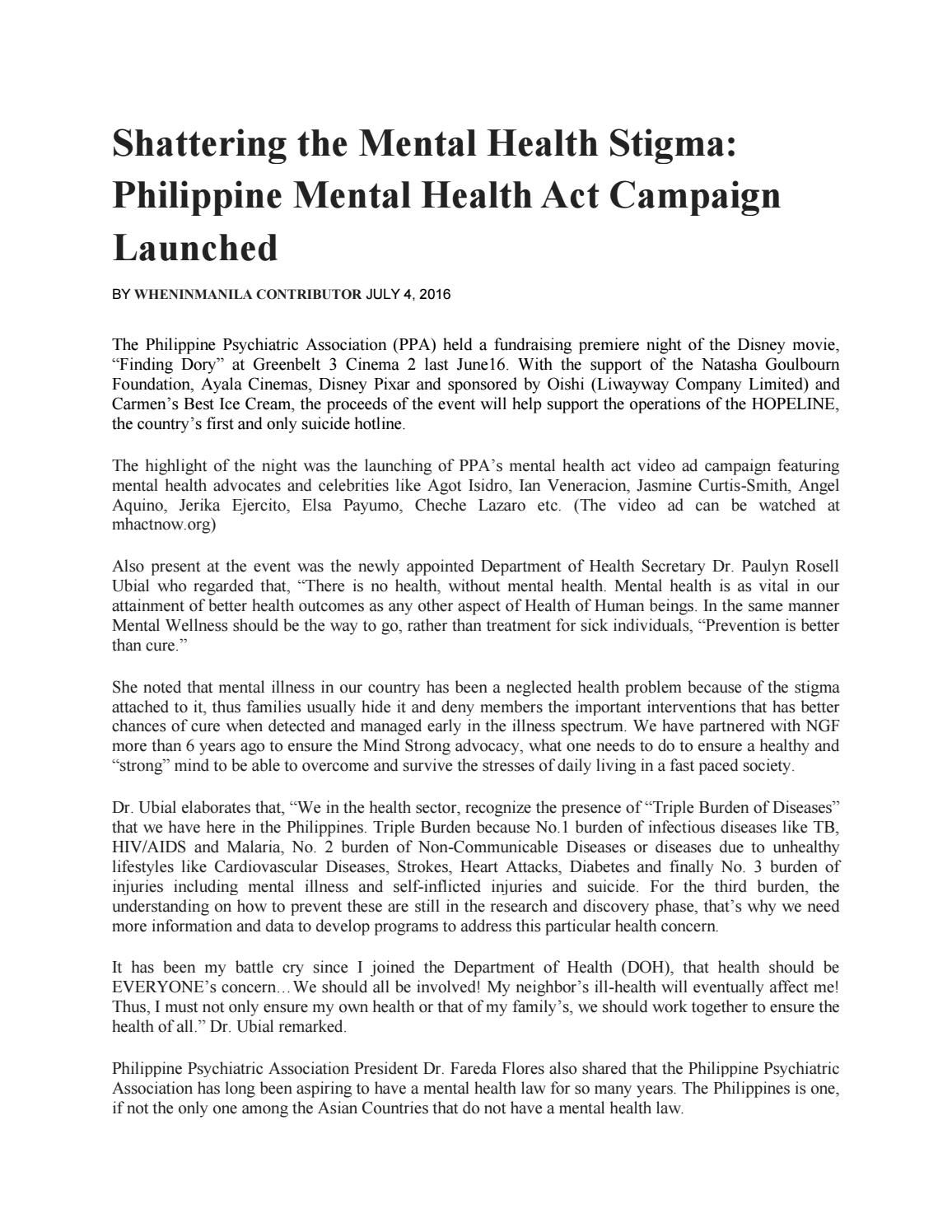 Shattering The Mental Health Stigma By Debbie Alvarico Issuu