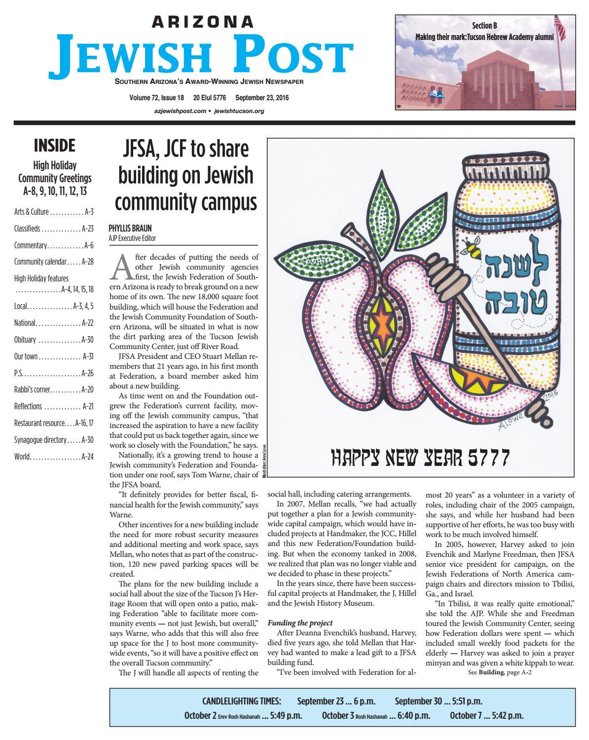 Arizona Jewish Post 9 23 16 By Arizona Jewish Post Issuu
