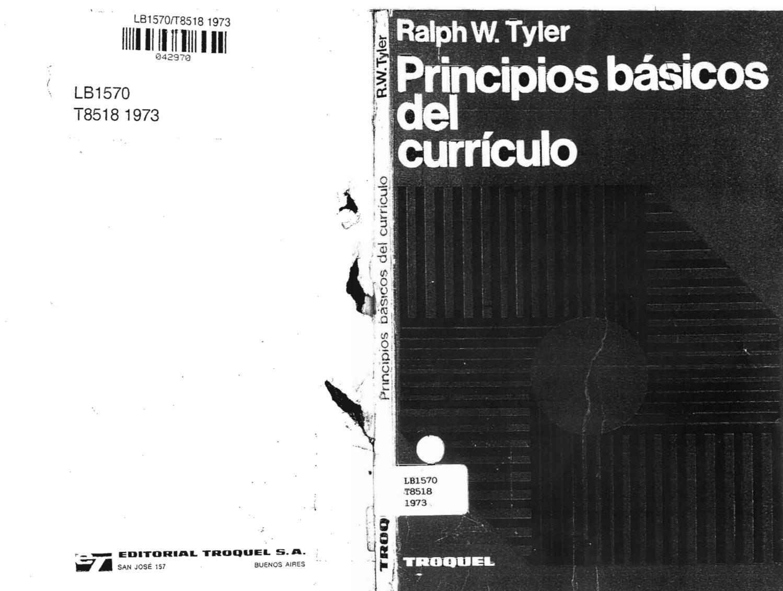 Tyler ralph w principios basicos del curriculo by antonio gonzali ...