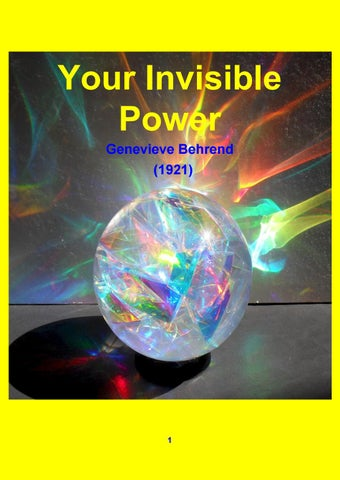 Your Invisible Power 1921 Genevieve Behrend By Robert Bayer