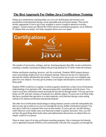 Java certifications by Jessica G. Hurt - issuu