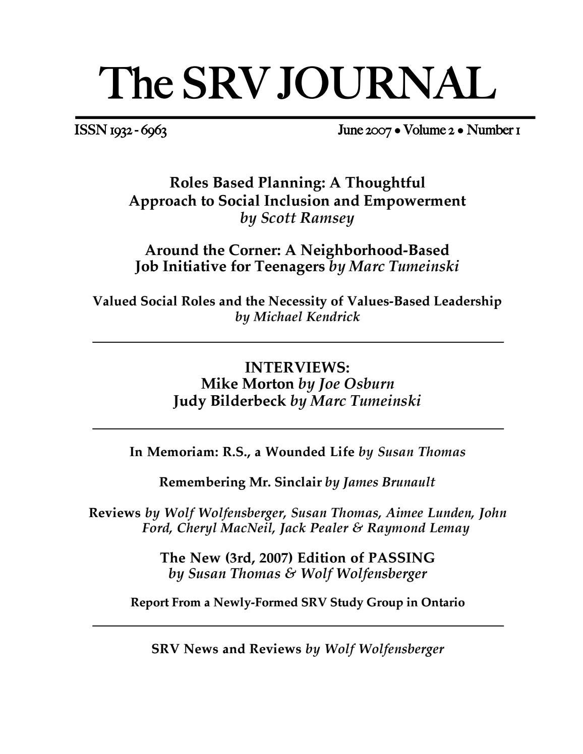 a quarter century of normalization and social role valorization lemay raymond flynn robert j