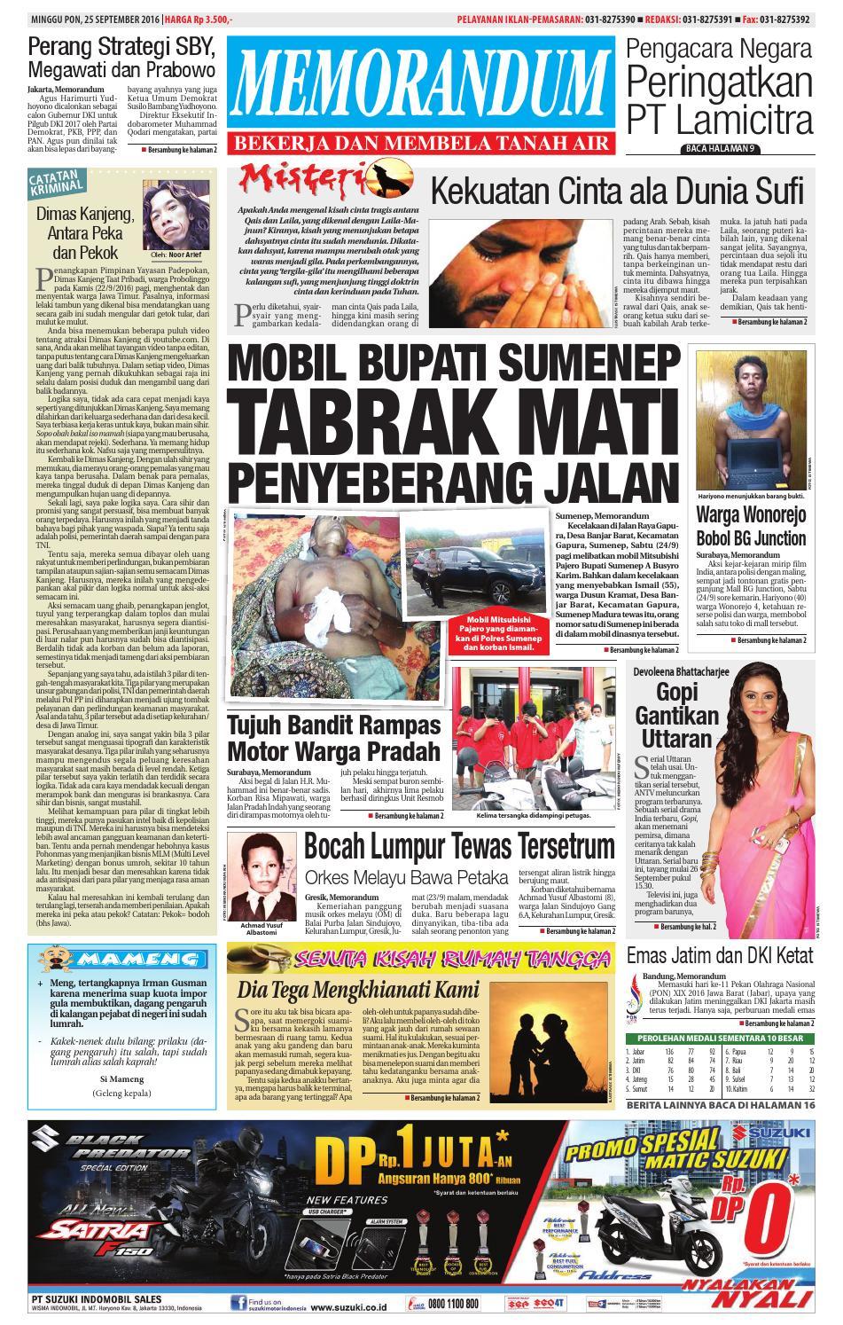 edisi 25 september 2016 by memorandum issuu