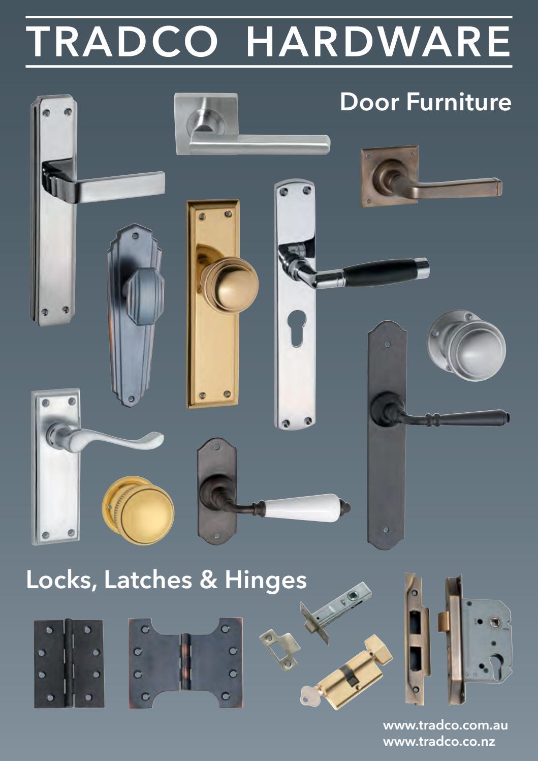 Tradco Door Furniture Brochure By Hardware