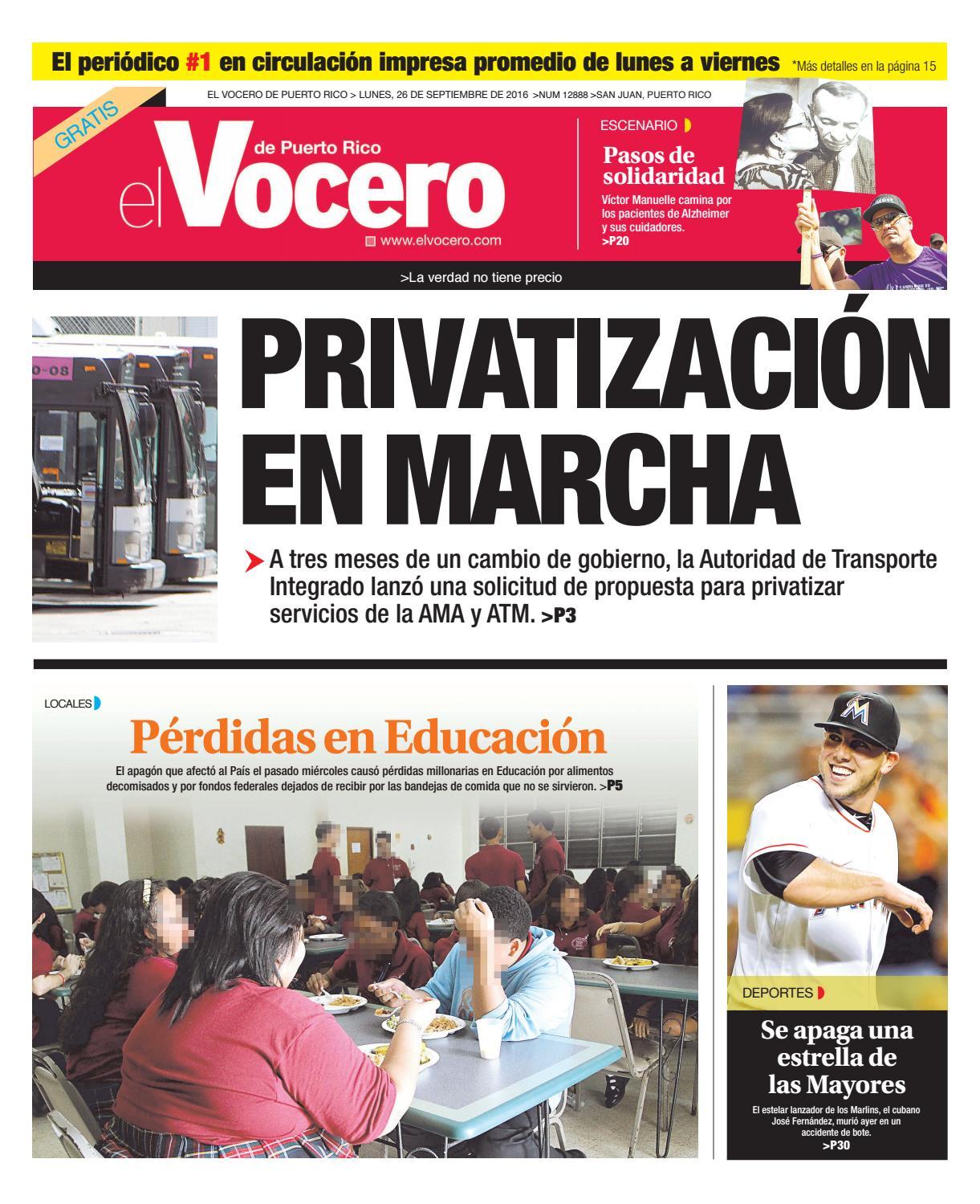 reputable site 5d1ef 3e7cf Edición 26 de Septiembre 2016 by El Vocero de Puerto Rico - issuu