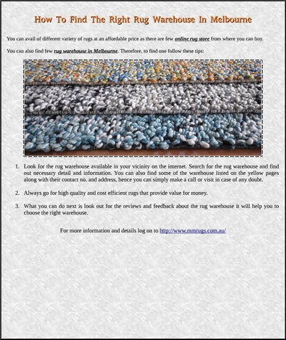 How To Find The Right Rug Warehouse In Melbourne By Rugs