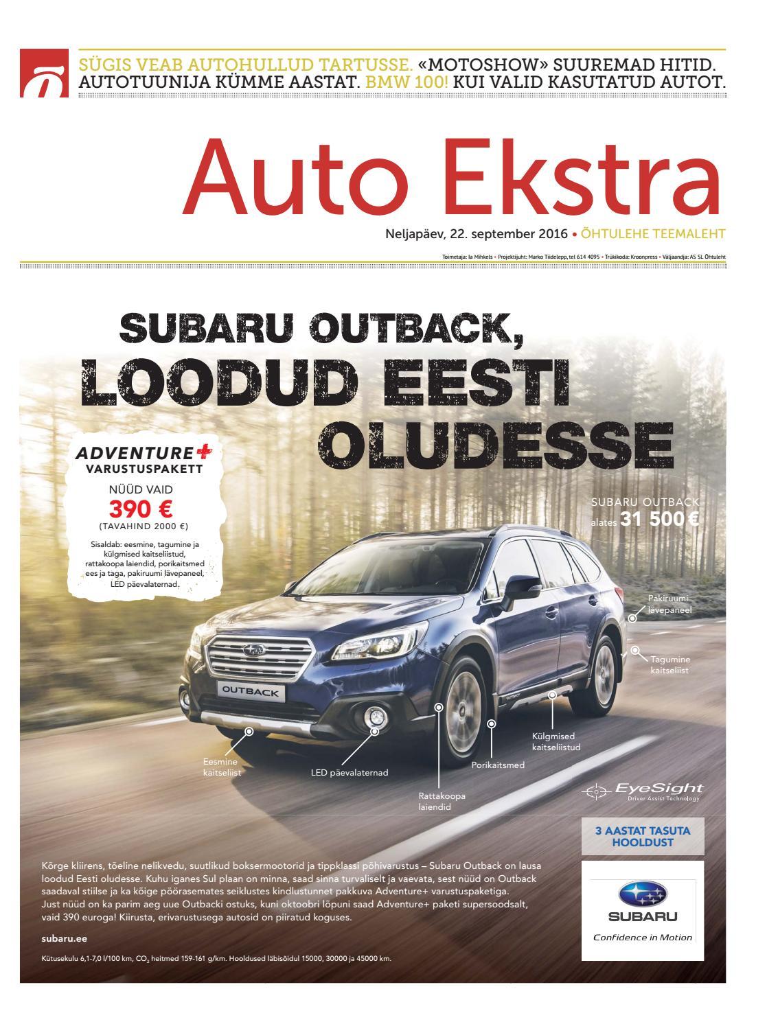 9d140f4c48c Auto Ekstra september 2016 by SL Õhtuleht AS - issuu