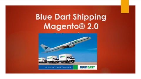 Blue dart shipping magento® 2 0 extension by magento