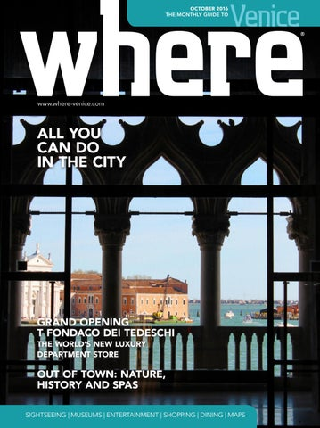 Where Venice n 2 October 2016 by Where Italia - issuu