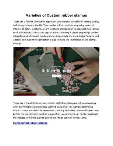 Varieties Of Custom Rubber Stamps By