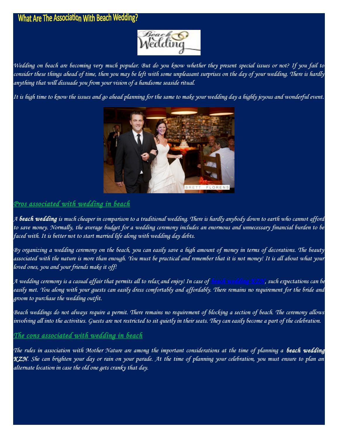 f614e550b Beach wedding planner by beachwedding - issuu