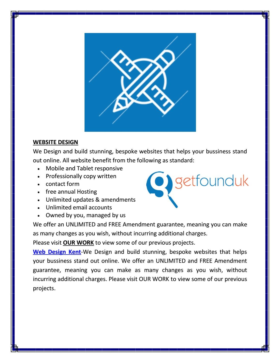 Is Getfounduk Co Uk Best Seo And Web Design Company In Kent By Sinuse Jill Issuu