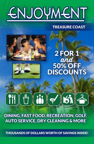 2017 Treasure Coast Fl Enjoyment Book By Savearound Issuu