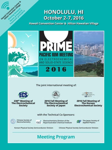 2016 PRiME Meeting Program by The Electrochemical Society - issuu 804cf3463c49
