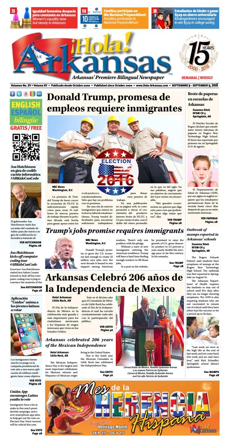 Hola arkansas 09 09 2016 by Hola! ARKANSAS - Arkansas\' Premier ...