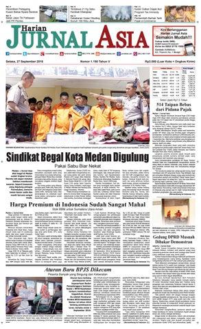 Harian Jurnal Asia Edisi Selasa, 27 September 2016