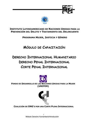3 Derecho Internacional Humanitario Derecho Penal Internacional Y Corte Penal Internacional By Fundacion Justicia Y Genero Issuu