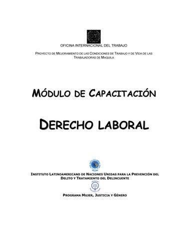 OFICINA INTERNACIONAL DEL TRABAJO PROYECTO DE MEJORAMIENTO DE LAS  CONDICIONES DE TRABAJO Y DE VIDA DE LAS TRABAJADORAS DE MAQUILA 2f1f2134b9669