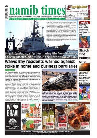 d95e716eb2f 27 september namib times e edition by Namib Times Virtual - issuu