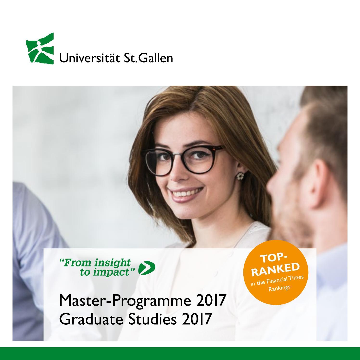Master Programme 2017 By Universität Stgallen Issuu