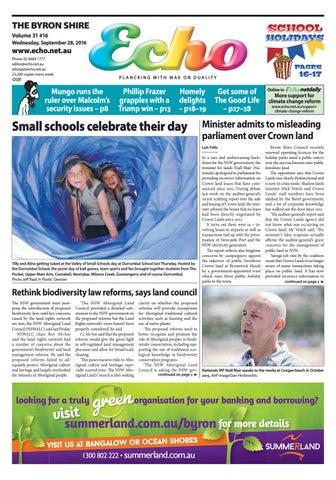 Byron Shire Echo Issue 3116 28092016 By Echo Publications Issuu