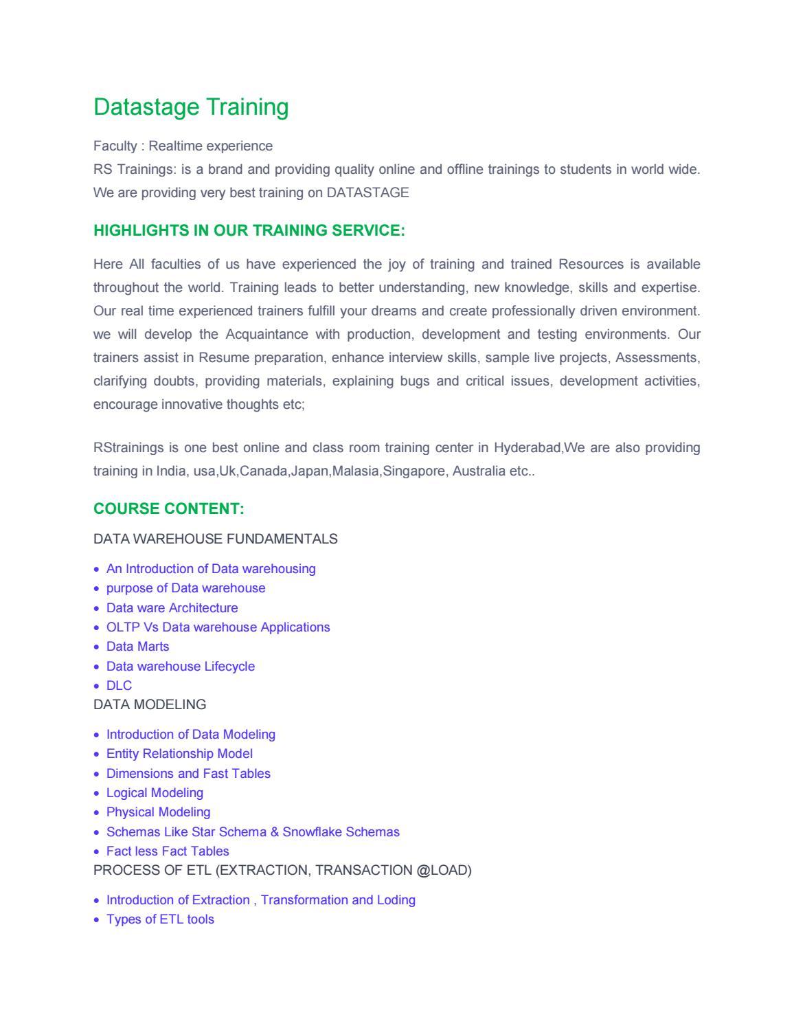 Datastage pdf file 24 08 (1) by RS Trainings - issuu