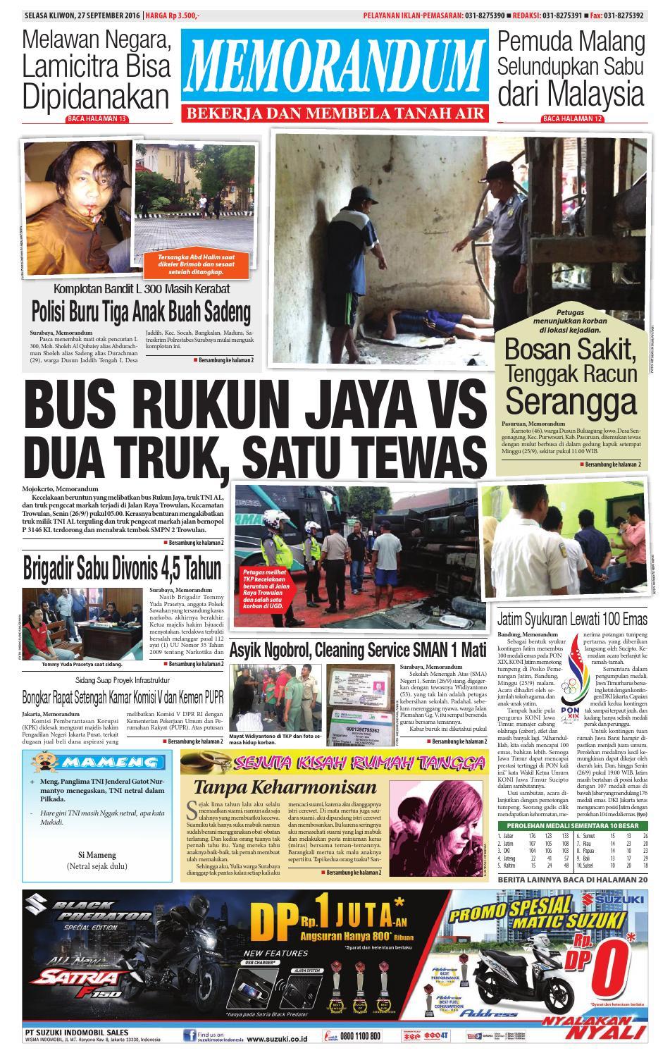 Edisi 27 September 2016 By Memorandum Issuu Produk Ukm Bumn Tas Phiton Kembang Orchid