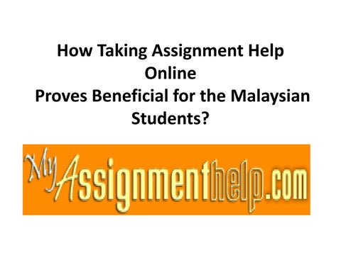 Assignment help in malaysia