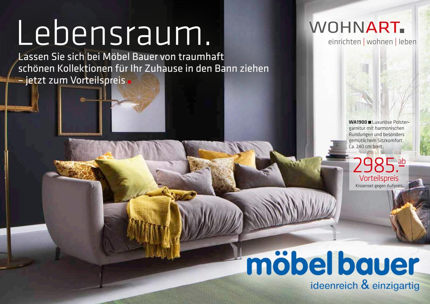 Möbel Bauer WOHNART Katalog 2016 By M7 Markenpflege   Issuu