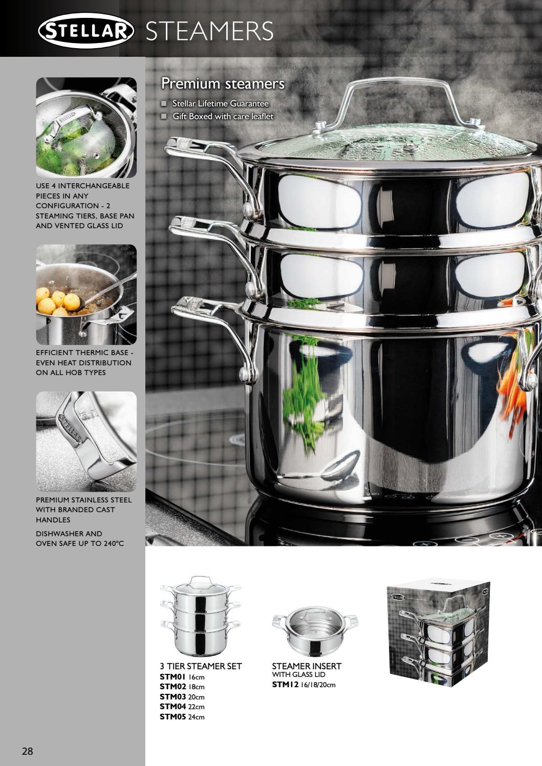 Stellar Premium 22cm 3 Tier Steamer Set