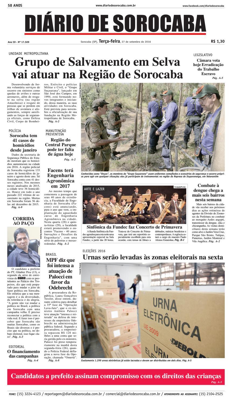 b685f0b328 Edição de 27 de setembro de 2016 by DIÁRIO DE SOROCABA - issuu