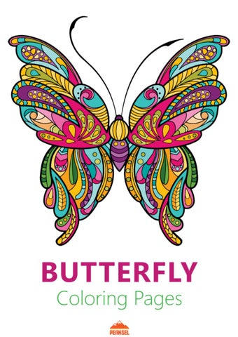 Adult Butterfly Coloring Book by