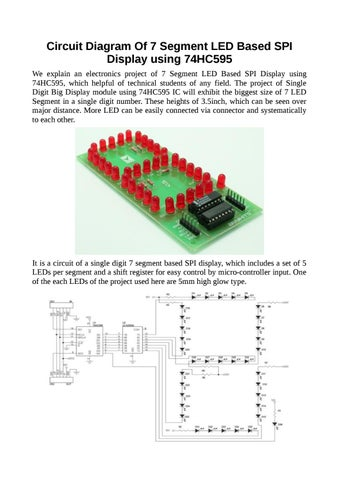 Circuit Diagram Of 7 Segment LED Based SPI Display using 74HC595 by ...