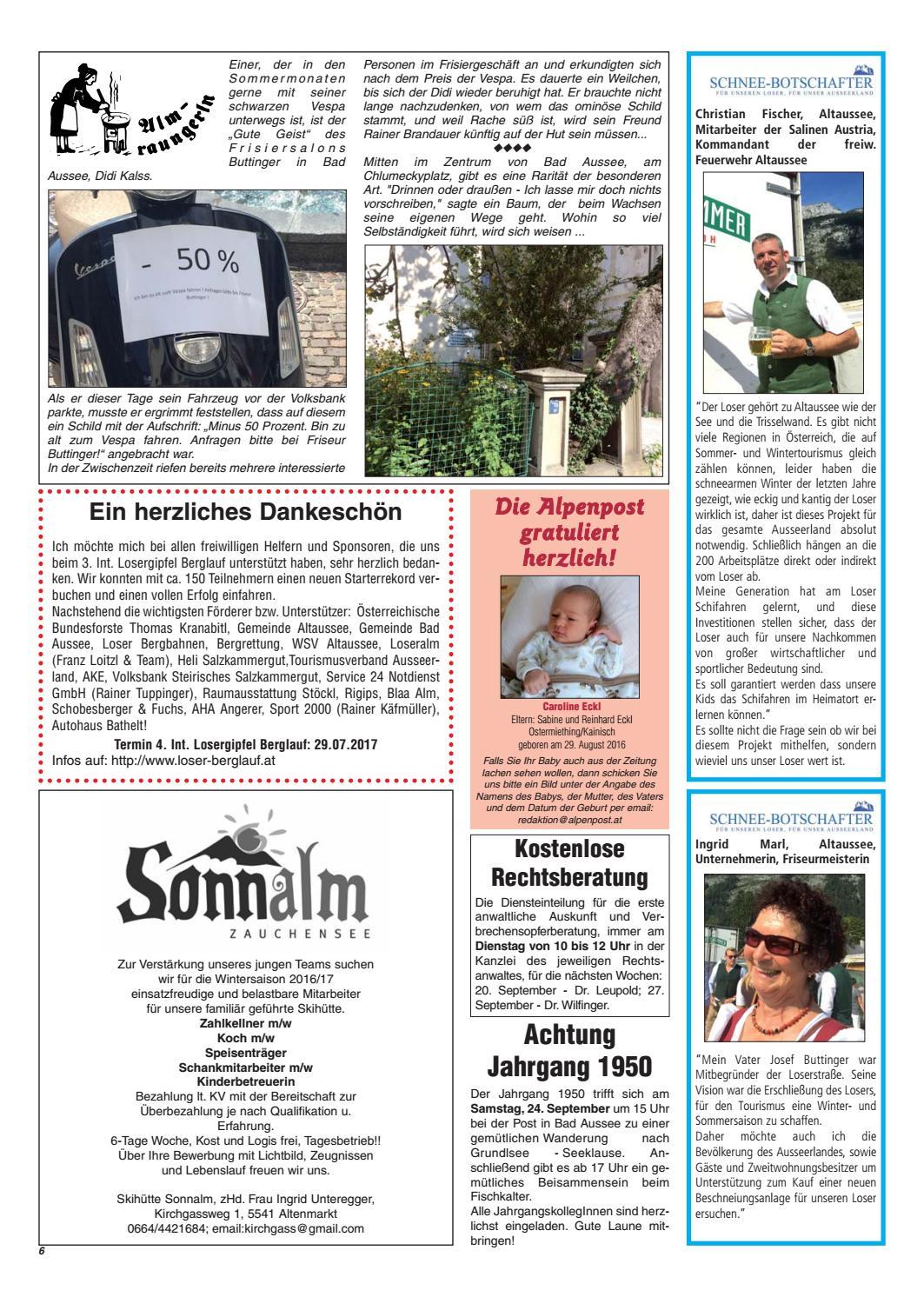 Alpenpost 19 2016 By Alpenpost Redaktion Issuu