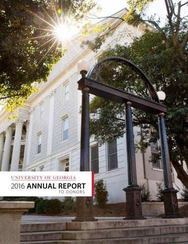 2016 Annual Report to Donors by UGA Office of Development - issuu 5a3f454c53