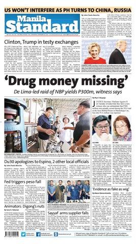 Manila Standard 2016 September 28 Wednesday By Manila Standard