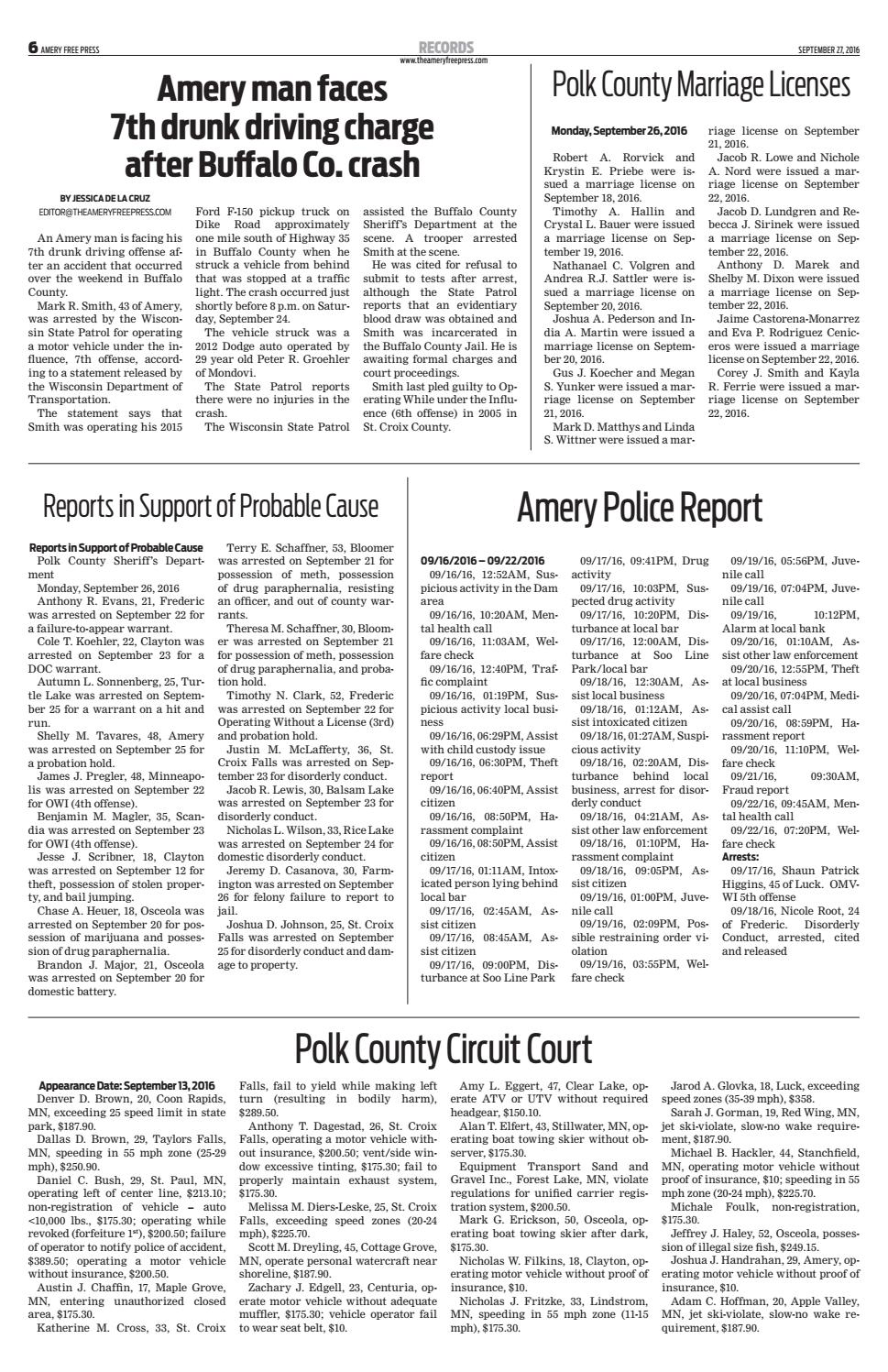 Afp 9 27 16 by Amery Free Press - issuu