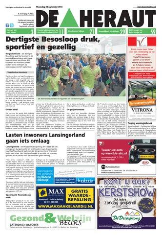 Heraut Week 39 2016 By Nieuwsblad De Heraut Issuu